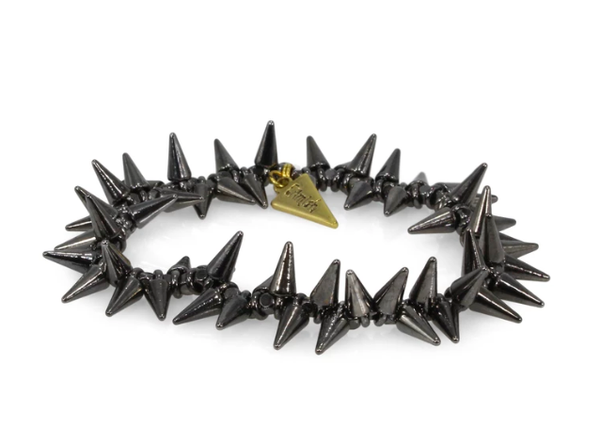 Erimish Black Spike Bracelet