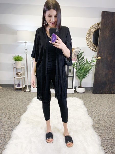 All Black Everything Kimono