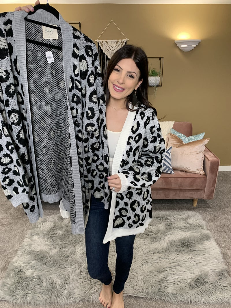 Snow Leopard Cardigan