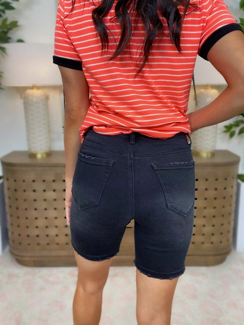 Risen Walk And Rock Denim Shorts - 2 Colors!