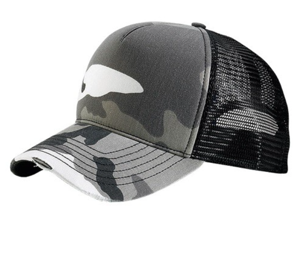 Camo Crazy Hat - White