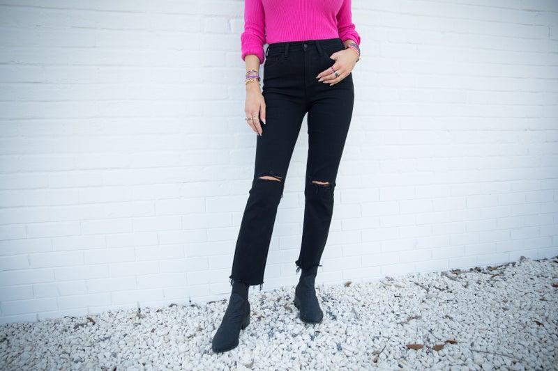 Vervet Hot Date High Waist Straight Jean