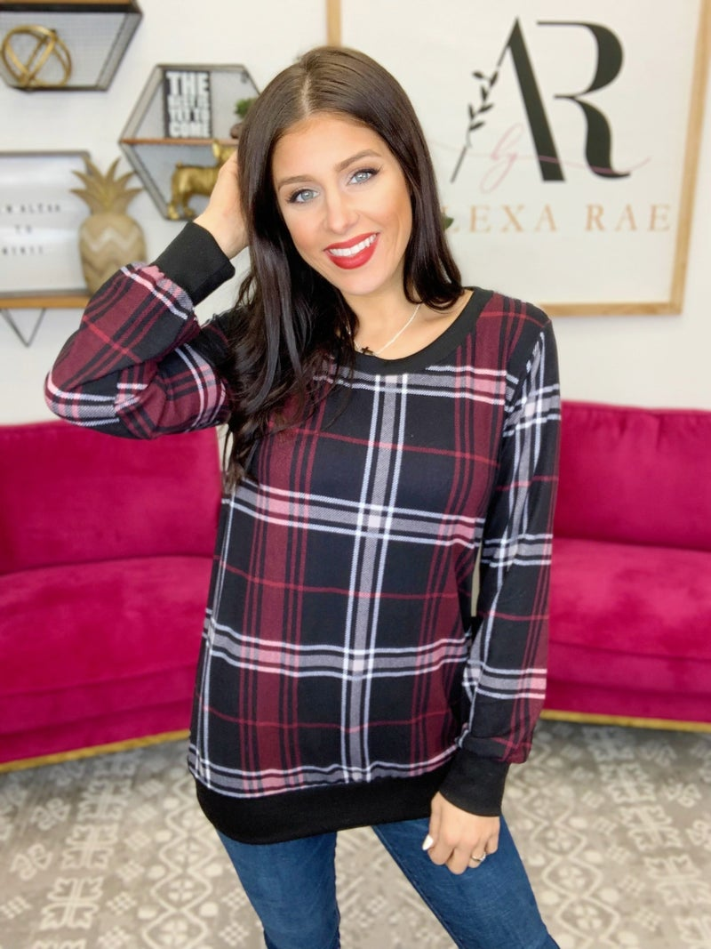 Plaid To Meet You Top - 2 Colors!