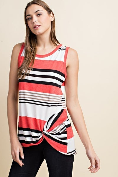 Sleeveless Multi Stripped Top