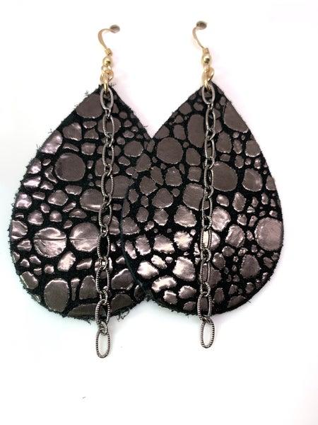 Midnight Croc Leather & Chains