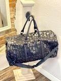 Black Leopard Duffle Bag