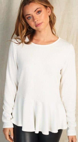 Beauty In The Hem Top - 2 Colors!