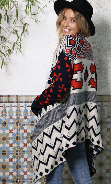 All She Wrote Aztec Cardigan
