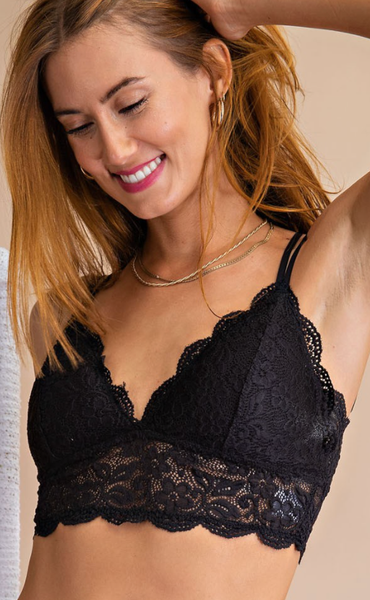 All Over The Lace Bralette - 4 Colors!