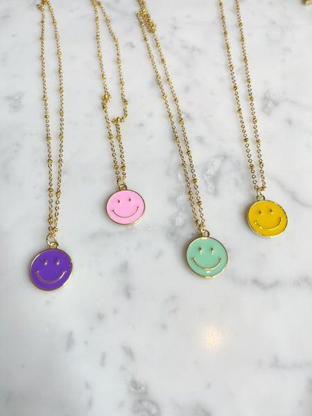 By Alexa Rae x Melania Clara Smiley Necklace - 3 Colors!