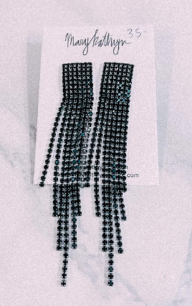 Mary Kathryn Black Threader Earrings