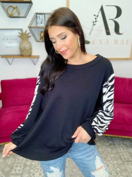 Zebra Vibes Sweater