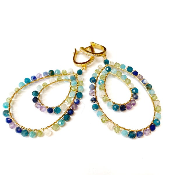 Pastel Tourmaline Beaded Earrings