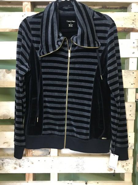 Calvin Klein Stripe Zip Up Sweatshirt
