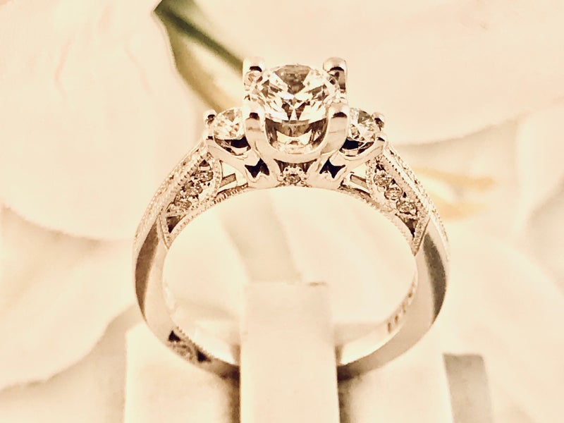 Tacori Diamond Engagement Wedding Ring Setting 18kw