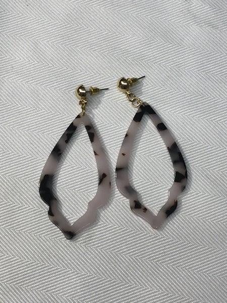 White Tortoise Shell Earrings