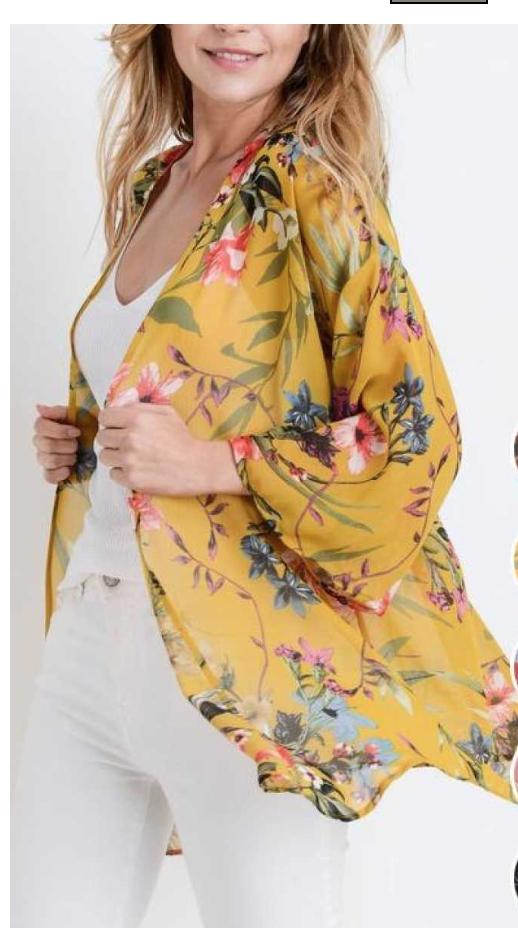 Tropical Floral Print Kimono
