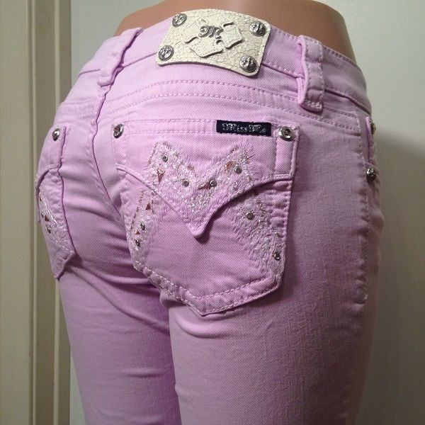 MISS ME  SIGNATURE ORCHID ICE SKINNY JEANS