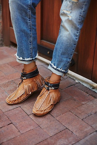 Free People Eastwood Fringe Moccasin