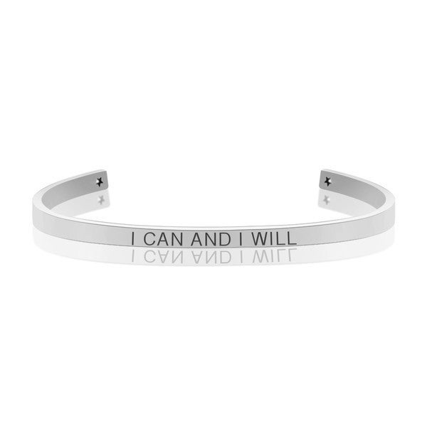I CAN AND I WILL MANTRA BANGLE
