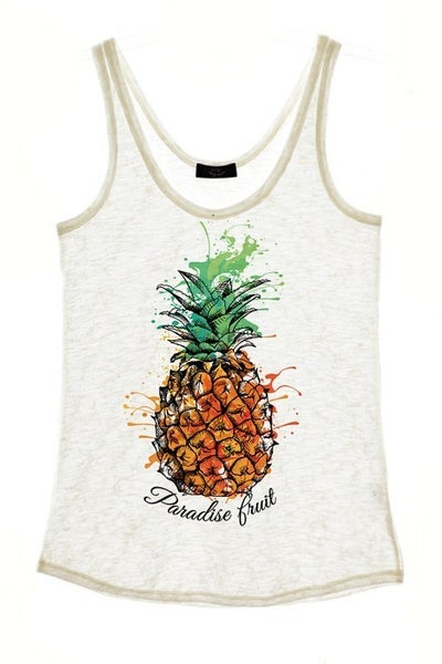 Pineapple Graphic Tank Top