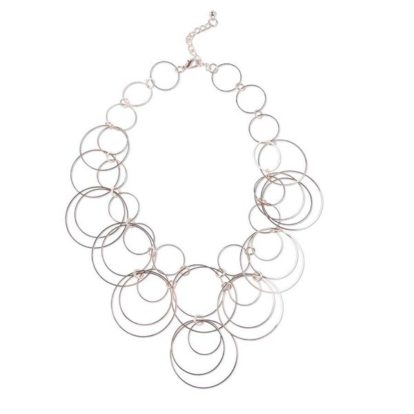 Rose Multi Circle Necklace