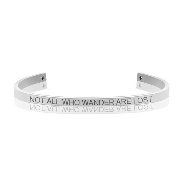 NOT ALL WHO WANDER ARE LOST MANTRA BANGLE