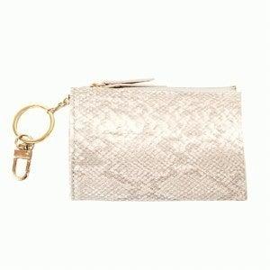 Joy Susan Vegan Leather Python Key chain card holder