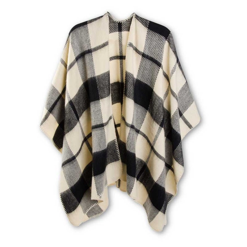 Black and Tan Plaid Cape