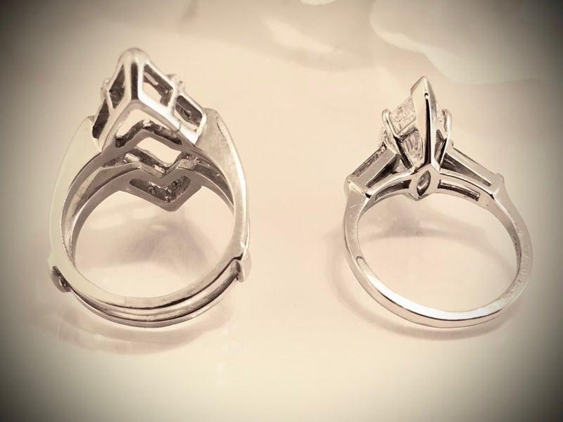 3.02 Carat Marquise Diamond Ring + 1.00 Carat Diamond Ring Cradle