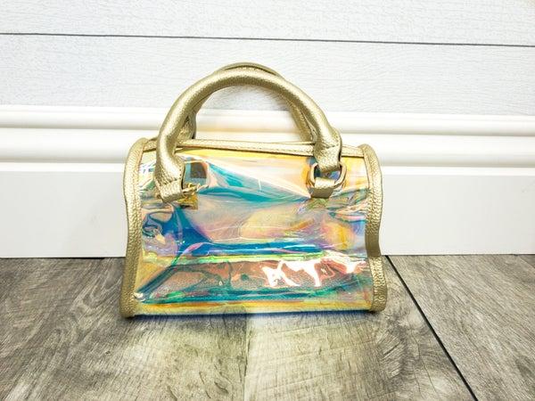 See-through Small Chrome Handbag