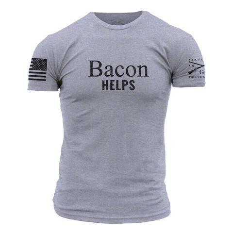"""Grunt Style """" Bacon Helps"""" Graphic T"""