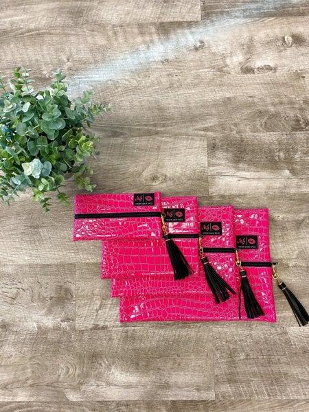 Makeup Junkie Bag Pink Snake