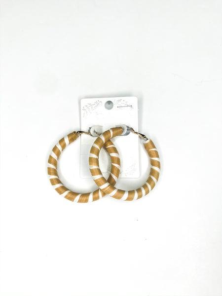 Straw Woven Hoop Earrings