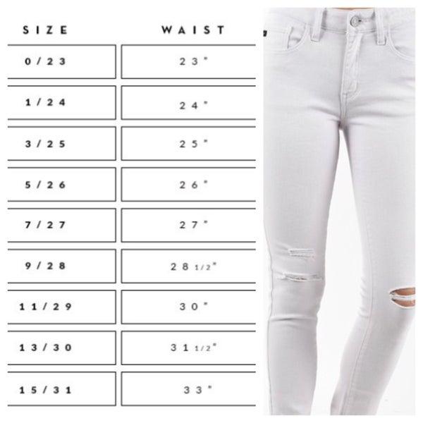 KanCan Lavender 5 pocket ripped super skinny jeans