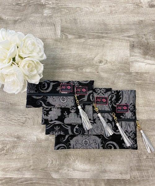 Makeup Junkie Bag Grey Floral