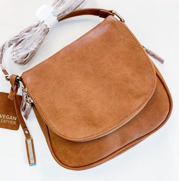 Cross-body Bag with Zipper Underneath