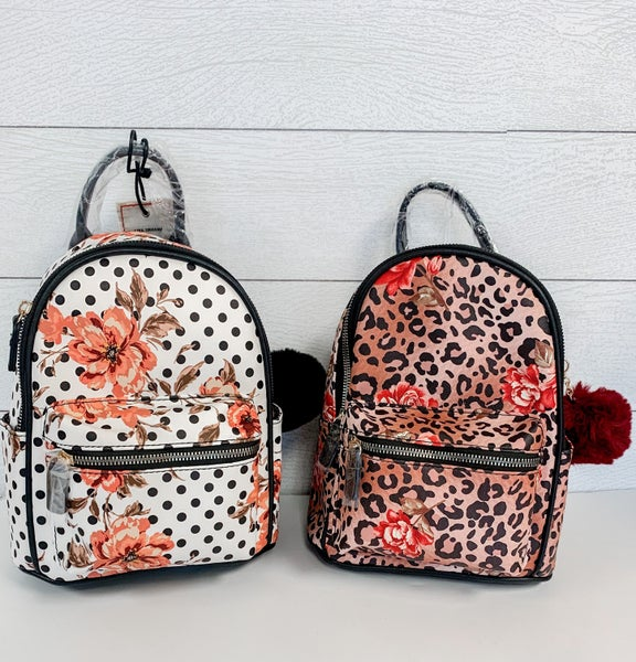 Dolce Gabbana Inspired Small Backpack with Adjustable Straps