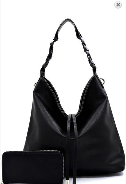 Braided Handle 2-in-1 Shoulder Bag