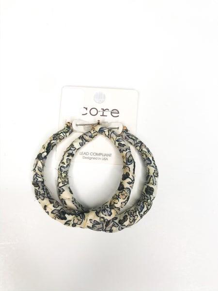 Floral Wrapped Hoop Earrings