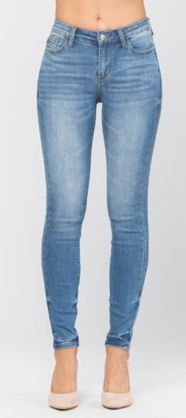 Judy Blue Pin-Tacked Non-Distressed Skinny Jeans