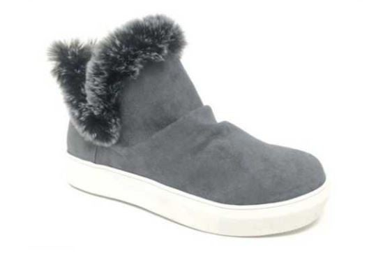 "Very G Grey ""Plush"" Sneaker with Fur"