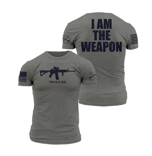 """Grunt Style """"I Am The Weapon"""" Graphic Men's T"""