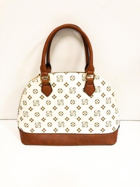 Louis Vuitton Inspired Rounded Short Strap Handbag