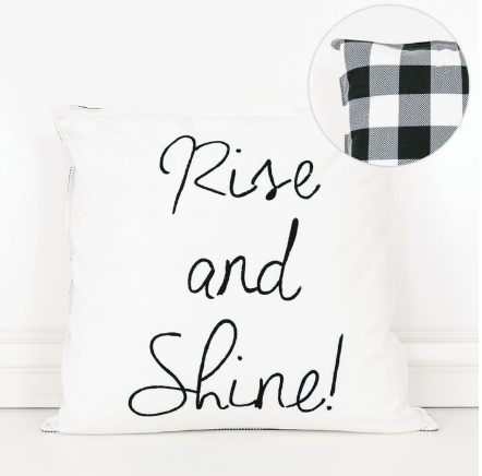 Rise and Shine Decor Pillow