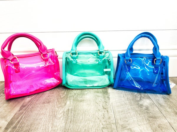 Small Clear Colored Handbag