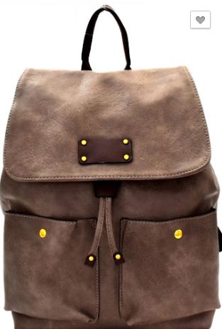 Drawstring Two-Tone Fashion Backpack