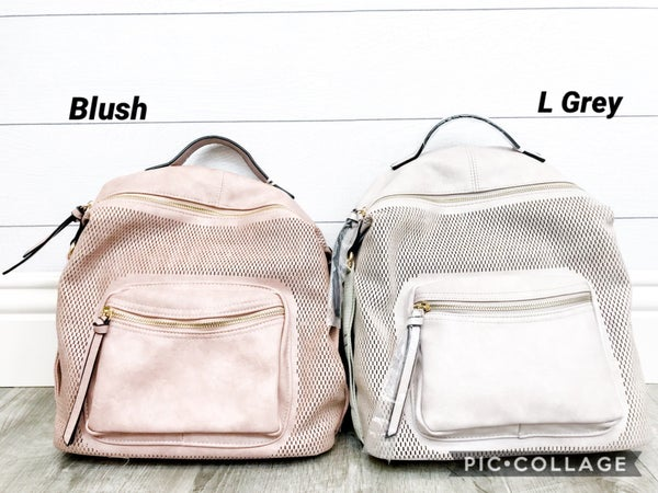 Detailed Textured Pocket Backpack