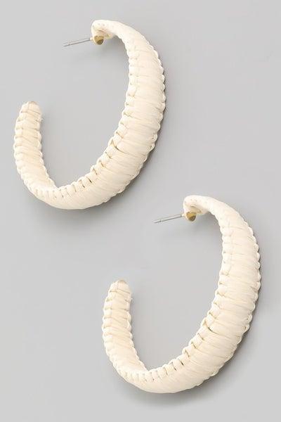 Small Straw Hoop Earrings
