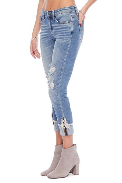 Judy Blue Cuffed Relaxed Fit Jeans